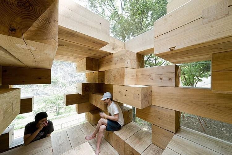 Final Wooden House / Sou Fujimoto , © Iwan Baan