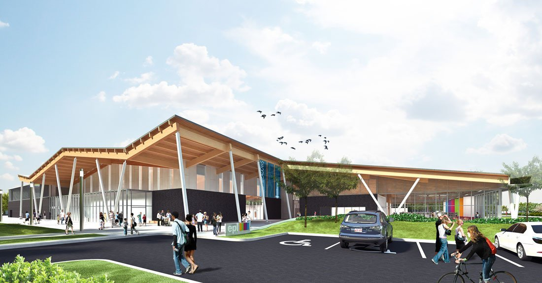 Meadows Community Recreation Centre Amp Edmonton Public Library Group2 Architecture Engineering Shore Tilbe Perkins Will
