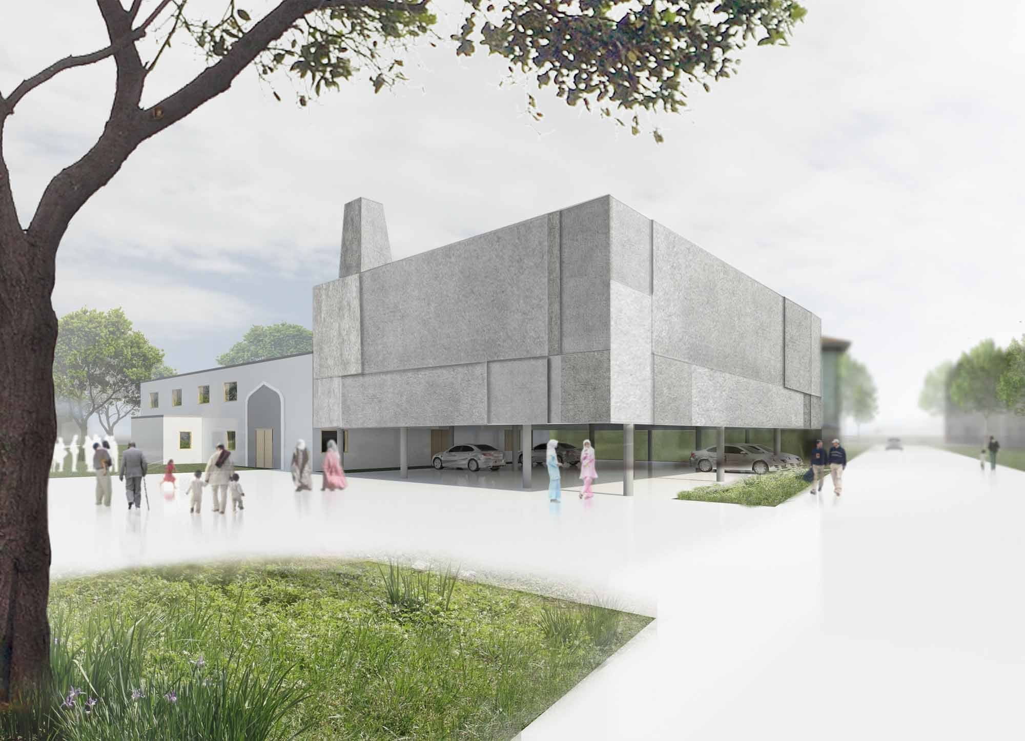 Gallery of room for prayer mosque and cultural center for Mosque exterior design