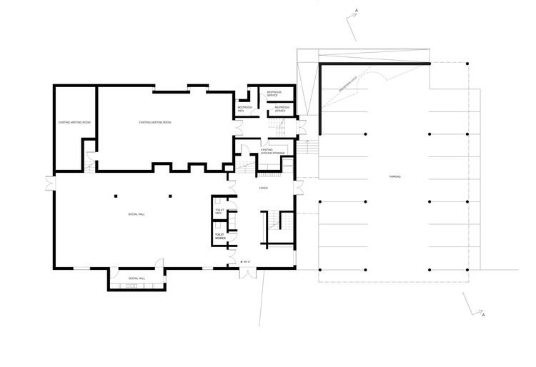 Simple ground floor plan