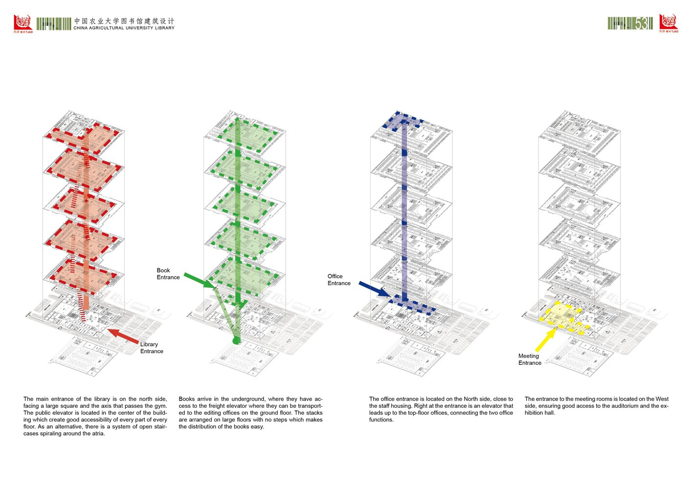 Gallery of beijing agriculture university library winning proposal beijing agriculture university library winning proposal tongji architectural design and research institutecirculation diagrams ccuart Gallery