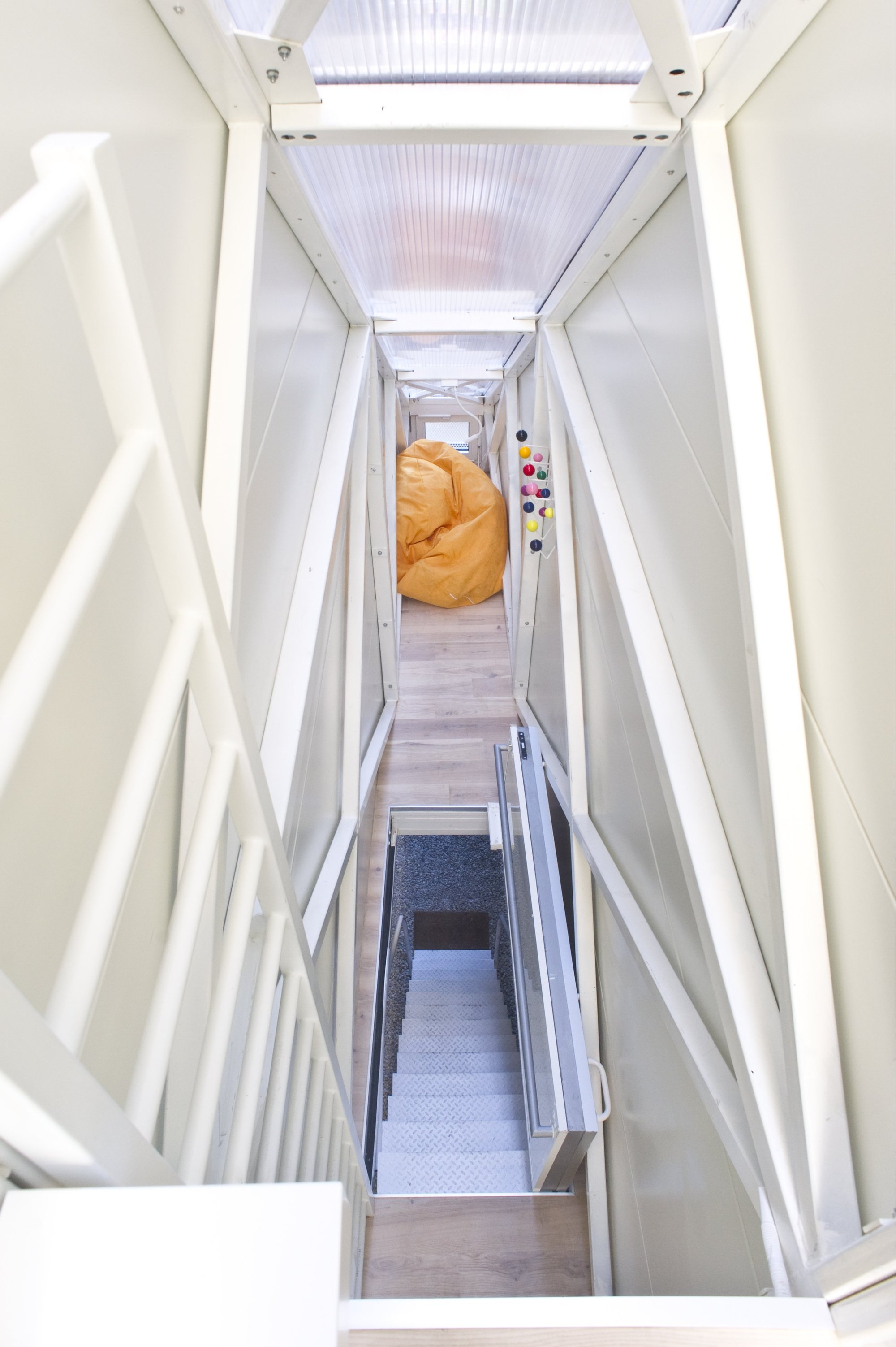 Inside The Keret House the Worlds Skinniest House by Jakub
