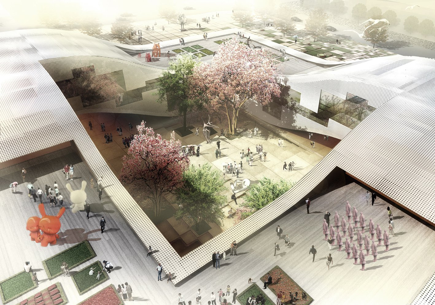Elevated Home Designs Gallery Of Dqz Cultural Center Proposal Holm