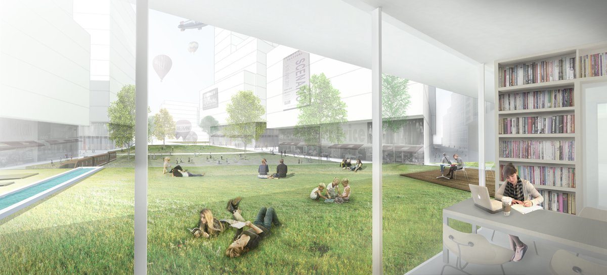 Gallery Of Green Square Library Plaza Design Competition