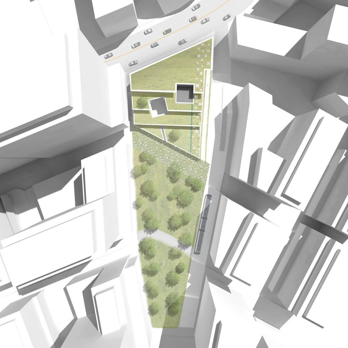 Gallery of green square library plaza design competition for Architecture design websites free