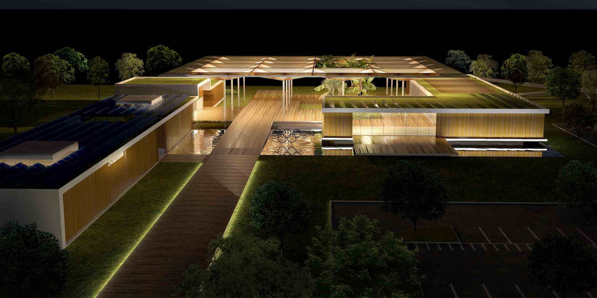 Gallery of olympic golf course clubhouse proposal rua for Clubhouse architecture design
