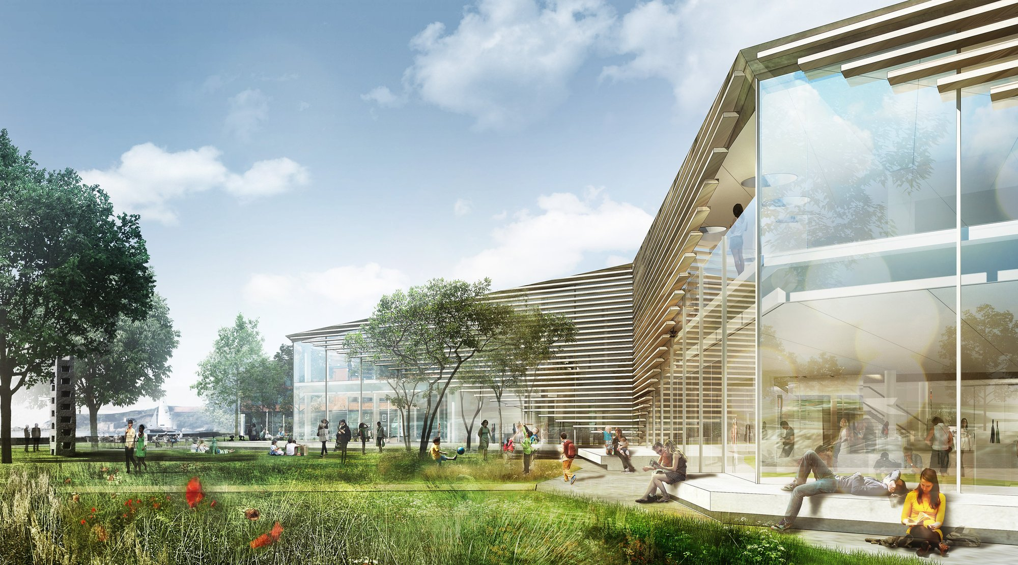Gallery of New Culture Centre and Library Winning Proposal