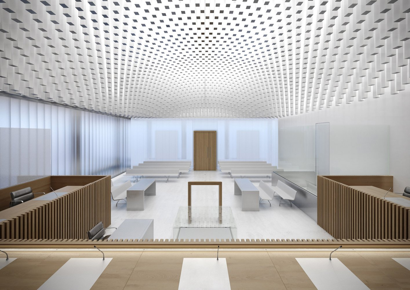 New Law Courts Of Caen Competition Entry / Be Baumschlager Eberle,Rendering  By RSI