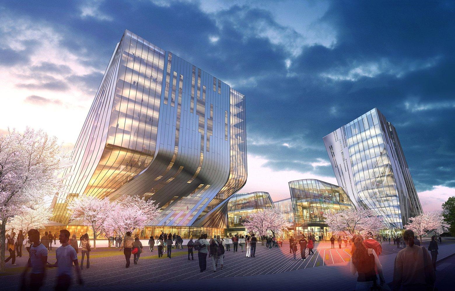 Marvelous Shanghai Wuzhou International Plaza Winning Proposal / Synthesis Design + Architecture  Inc. U0026 Shenzhen General