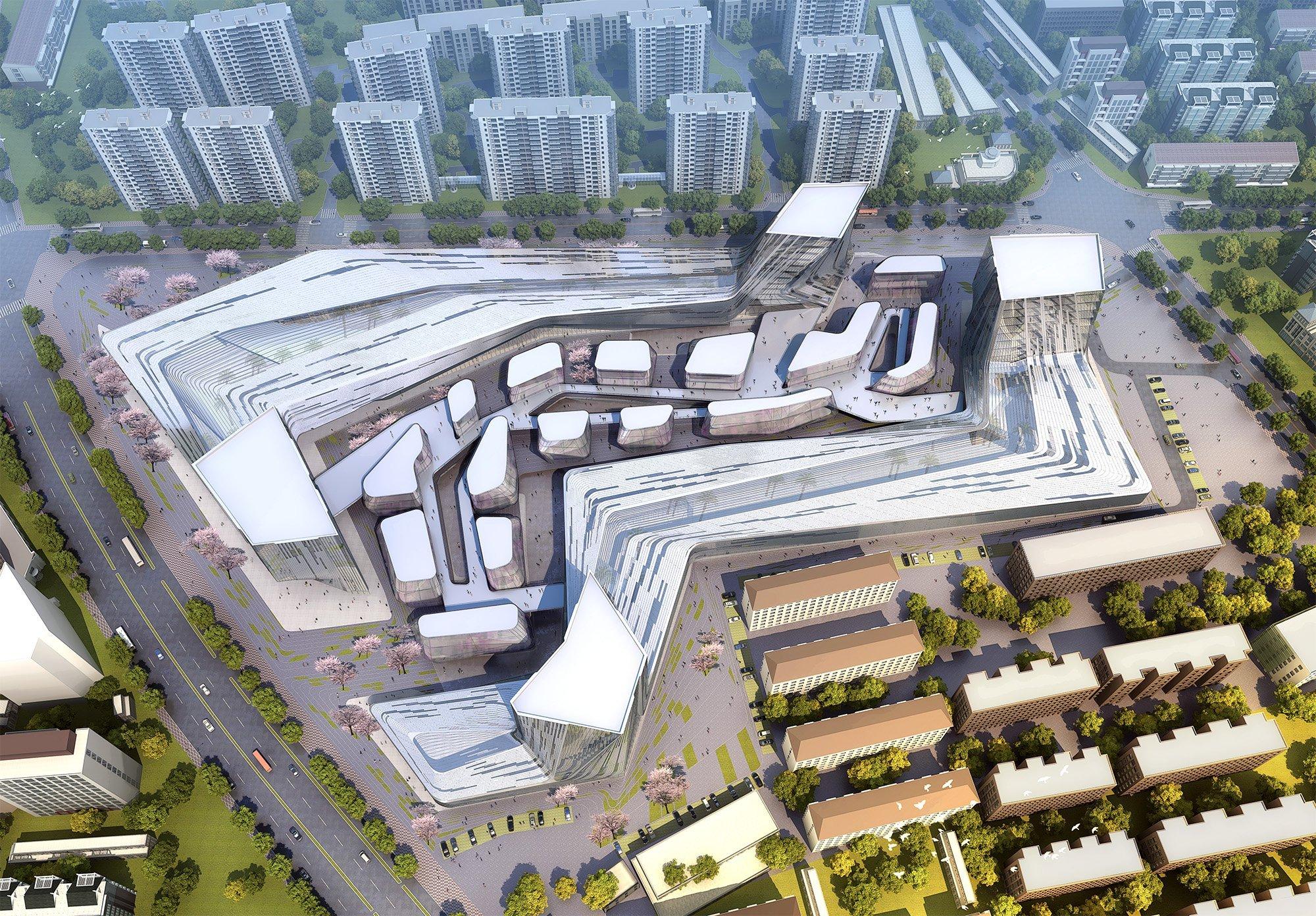Gallery Of Shanghai Wuzhou International Plaza Winning