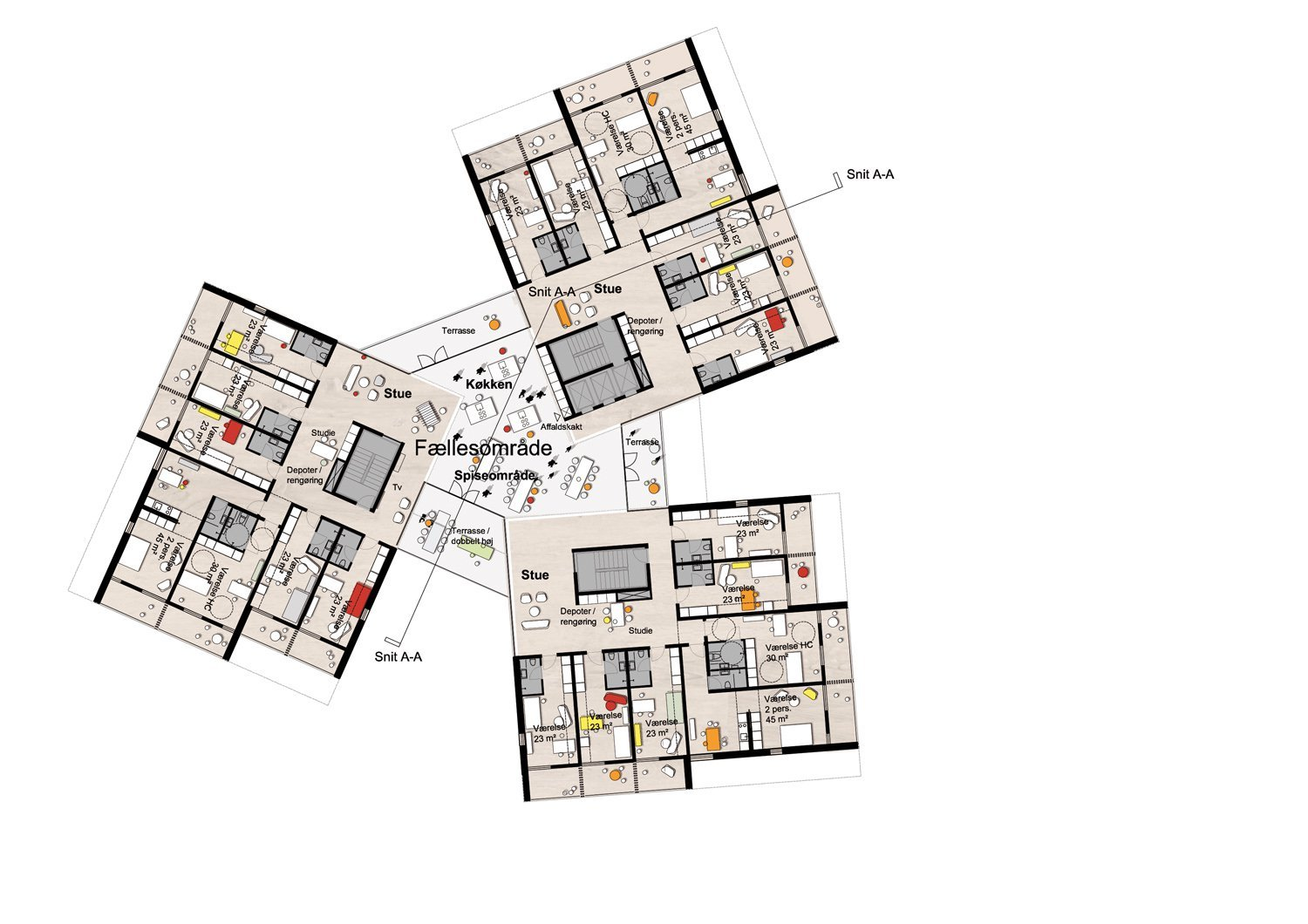 Apartment Building Floor Plans Gallery Of University Of Southern Denmark Student Housing