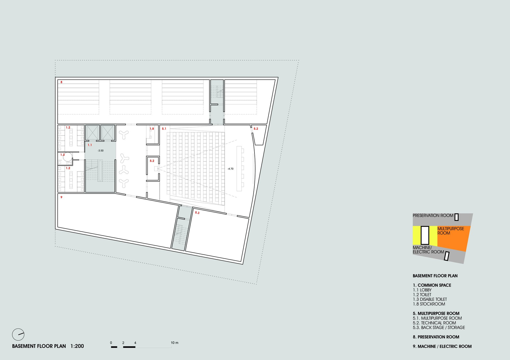 Gallery of daegu gosan public library competition entry for Basement entry floor plans