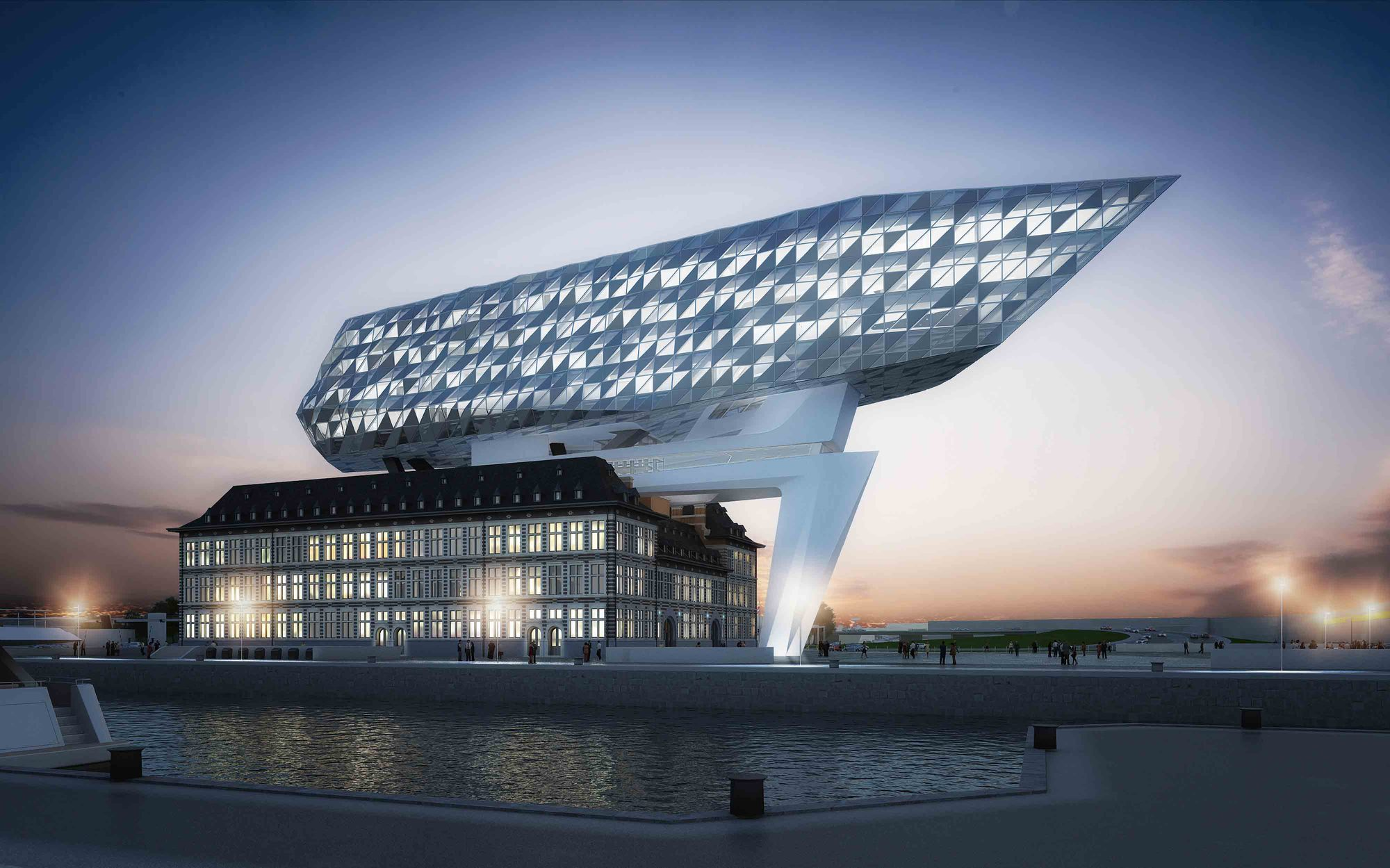 Port House: Antwerp Headquarters Courtesy of Zaha Hadid Architects