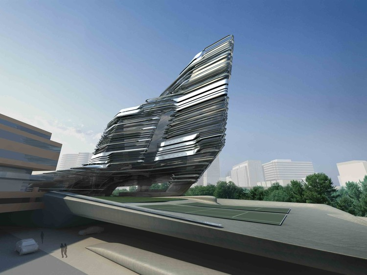 Innovation Tower Hong Kong Polytechnic University Zaha