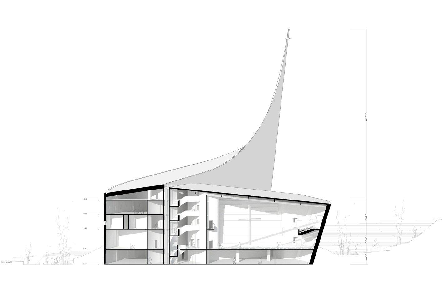 Dove Of Peace Church Weava Architects Amazing Dove Of Peace' Church WEAVA Architects ArchDaily 4628 1