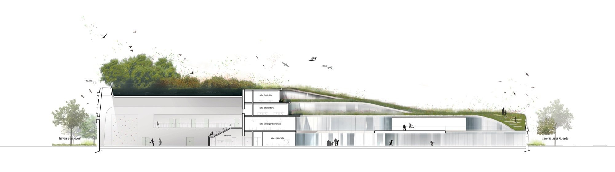 Gallery of Primary School & Sport Hall / Chartier-Dalix ...