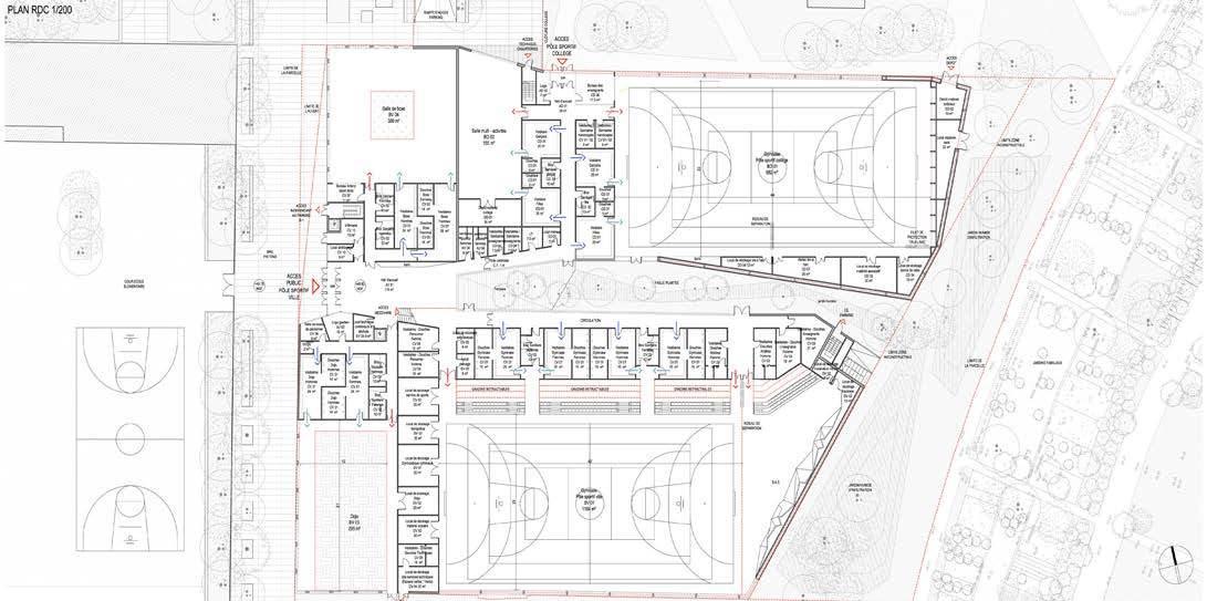 Gallery Of Multi Sports Complex Competition Winning Proposal Archi5 Tecnova Architecture 7
