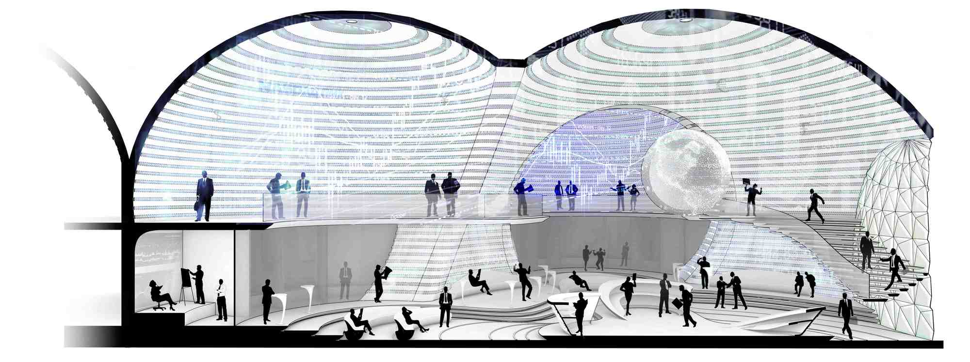 Gallery of Tehran Stock Exchange Competition Entry / LAVA - 4