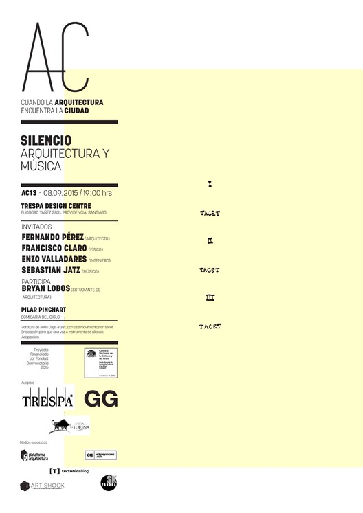 Arquitectura y Música: 'Cuando la Arquitectura Encuentra la Ciudad' / Santiago