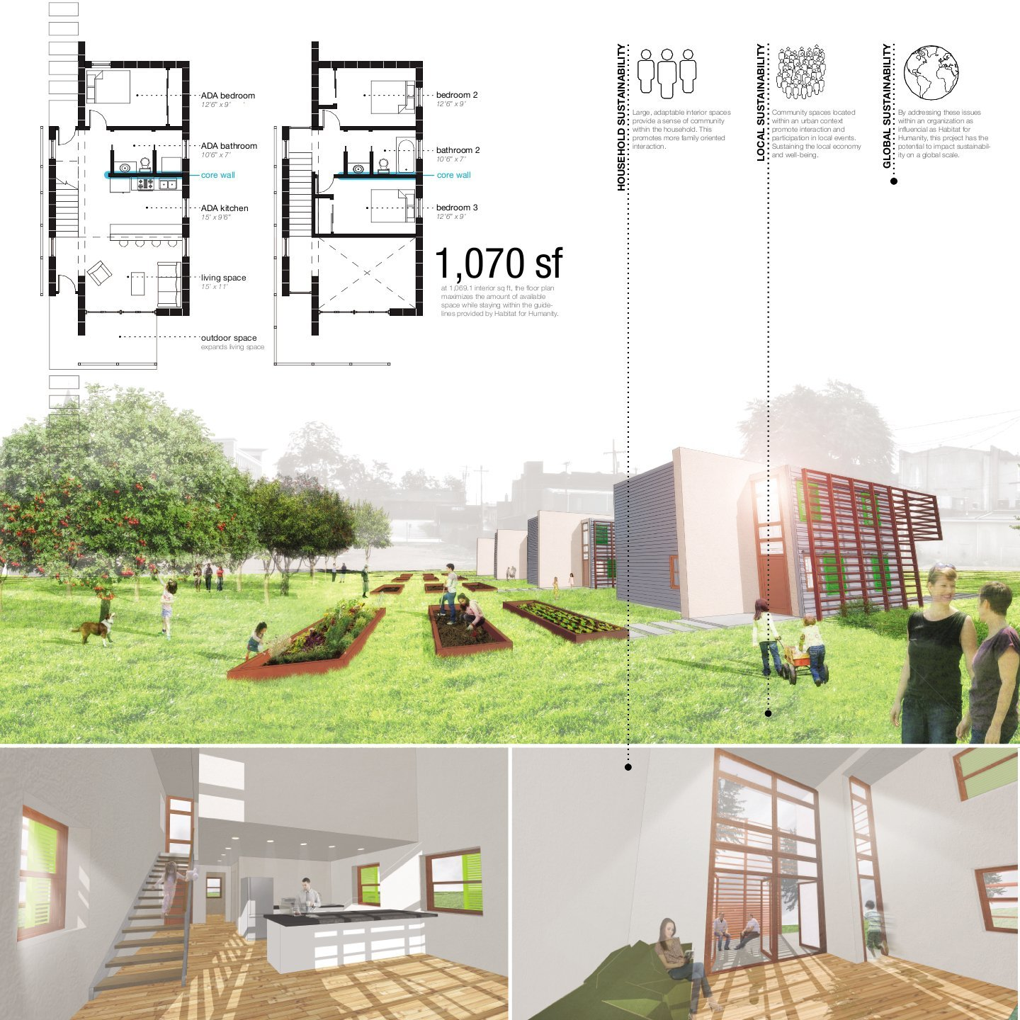 Gallery of winners of habitat for humanity 39 s sustainable for Project home designs
