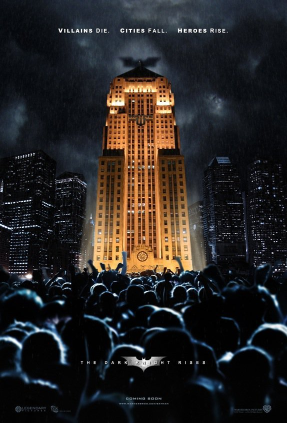 """Batman & Architecture: The Dark Knight Rises and Gotham's Buildings Fall,""""Villians die. Cities fall. Heroes rice"""""""