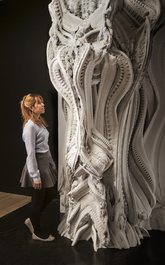 "3D Printed ""Arabesque Wall"" Features 200 Million Individual Surfaces, © Hansmeyer / Dillenburger"
