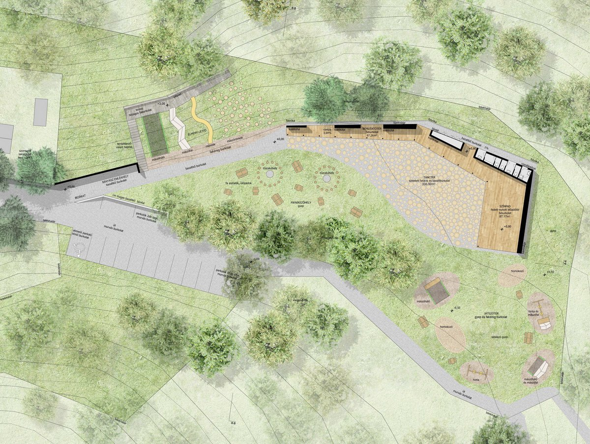 Architectural Site Plan Gallery Of Dance Floor Recreation And Memorial Park