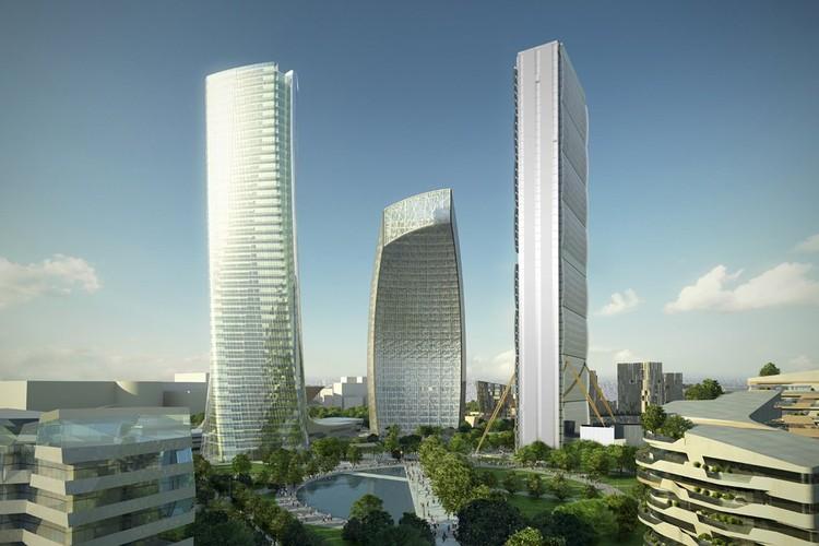 Citylife Tower / Arata Isozaki and Andrea Maffei | ArchDaily