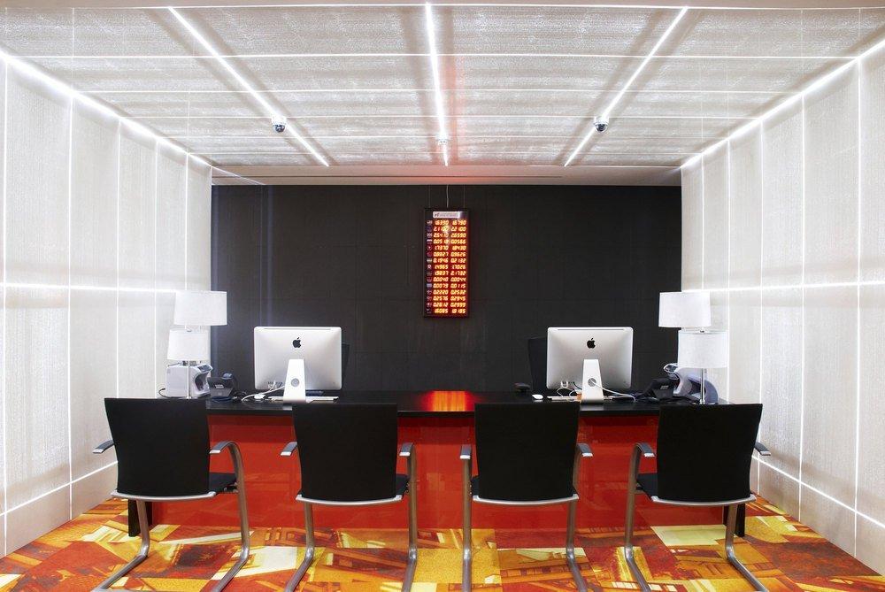 New Headquarters Of Bank Georgia Illuminated Translucent Concrete For Interior Design Architectural Group