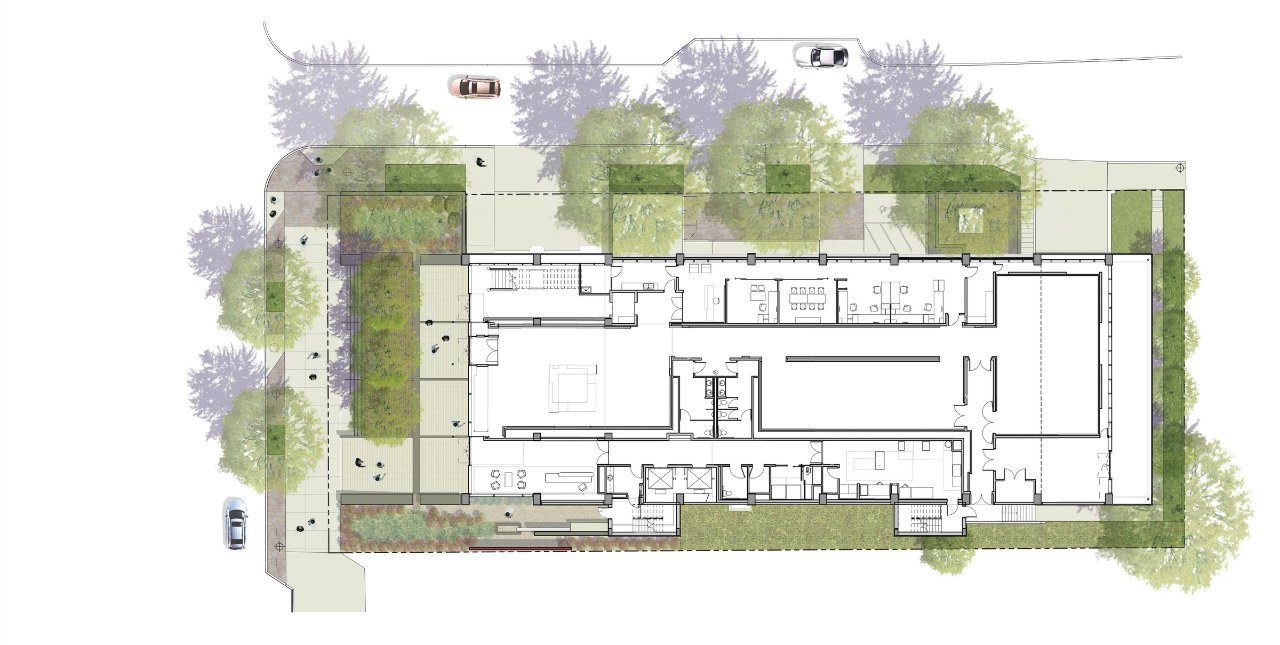 Gallery of Exemplar of Sustainable Architecture 1315 Peachtree – Rendered Site Plan
