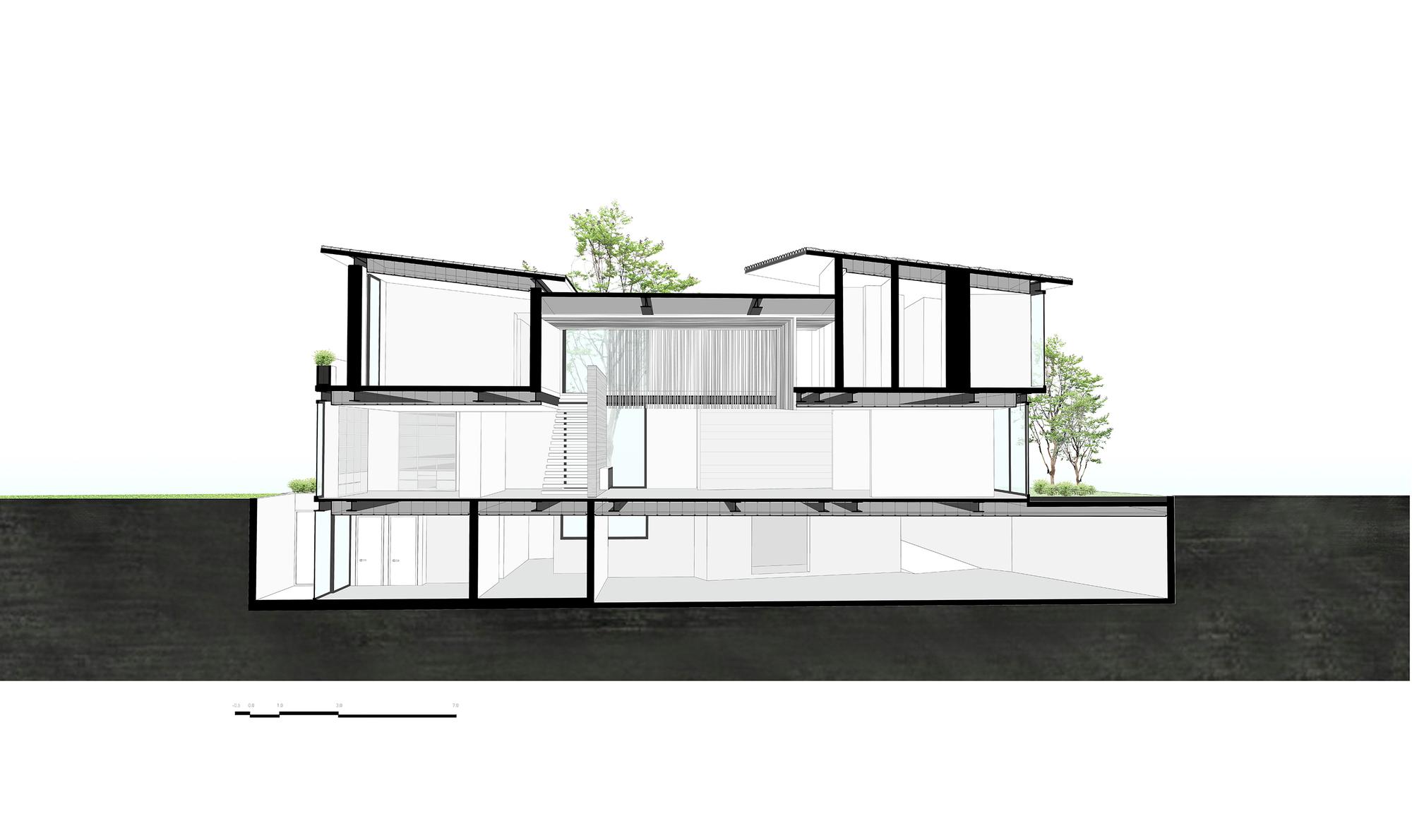 Galer a de casa v9 vgz arquitectura y dise o 27 for Arquitectura nota de corte