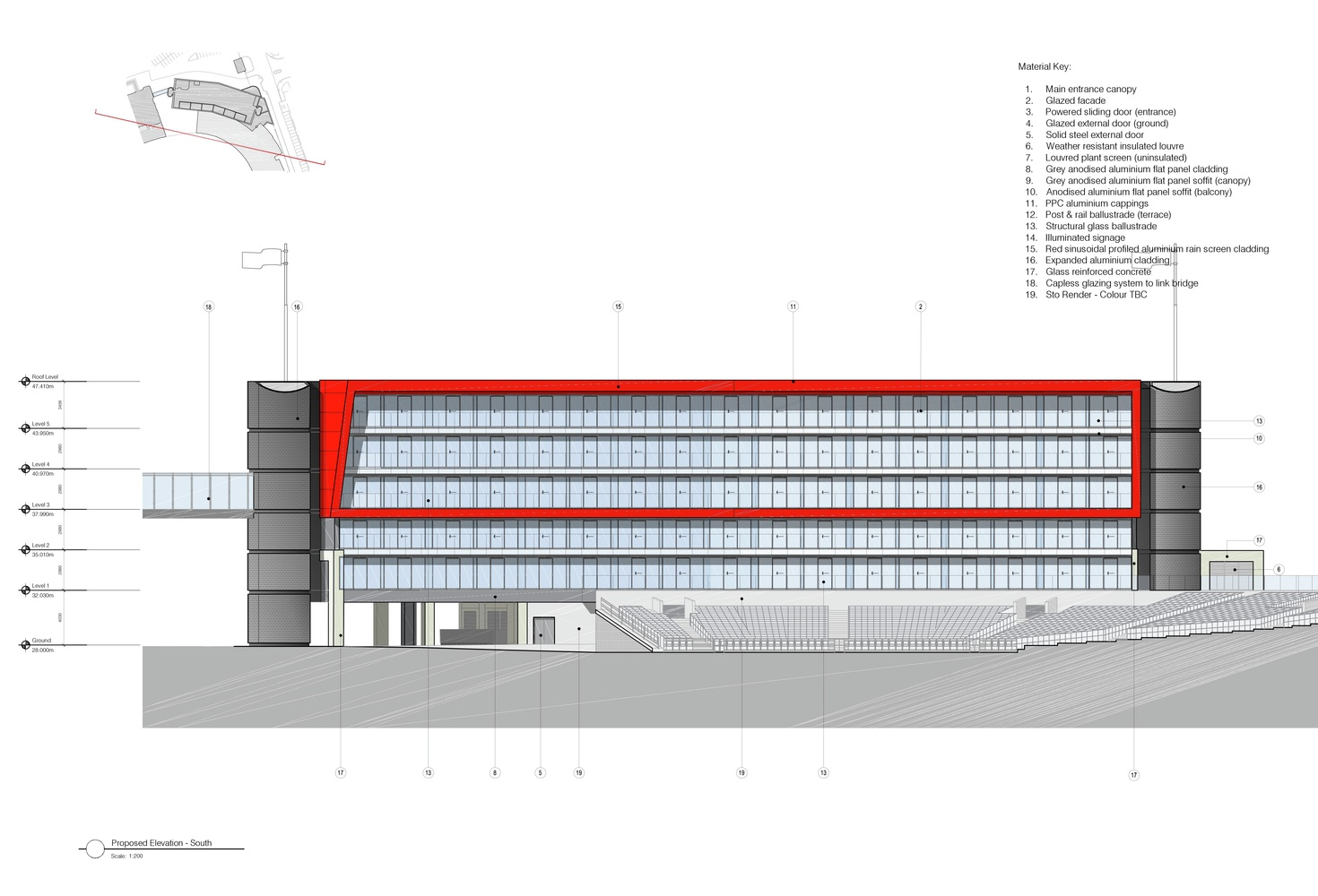 Gallery Of ICA Wins Planning For Hotel At Old Trafford Cricket - Ground elevation