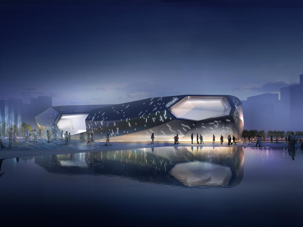 gallery of jinan high tech science and technology culture center and
