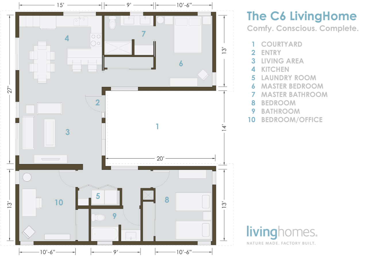 Southern Living Floorplans Gallery Of Livinghomes C6 Affordable Sustainable And