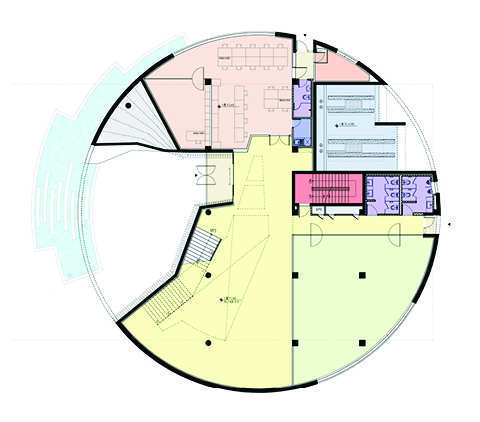 Gallery of in progress water circle unsangdong for House plans round home design