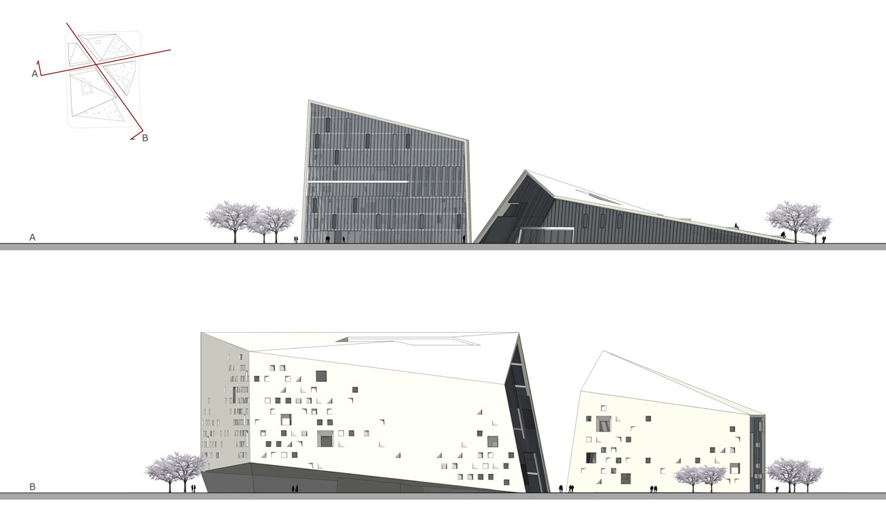 Gallery of moma chengdu wande wenmai internaional 8 for Architecture elevation
