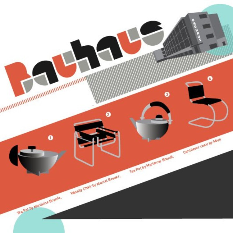 Infographic The Bauhaus Where Form Follows Function ArchDaily