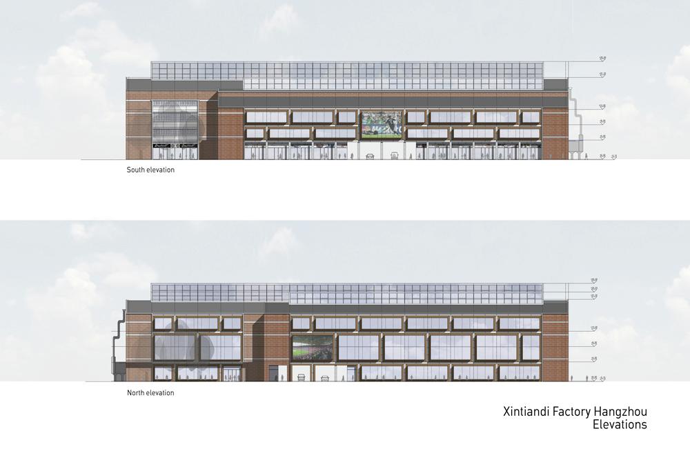 Elevation Plan Presentation : Gallery of xintiandi factory peter ruge architekten
