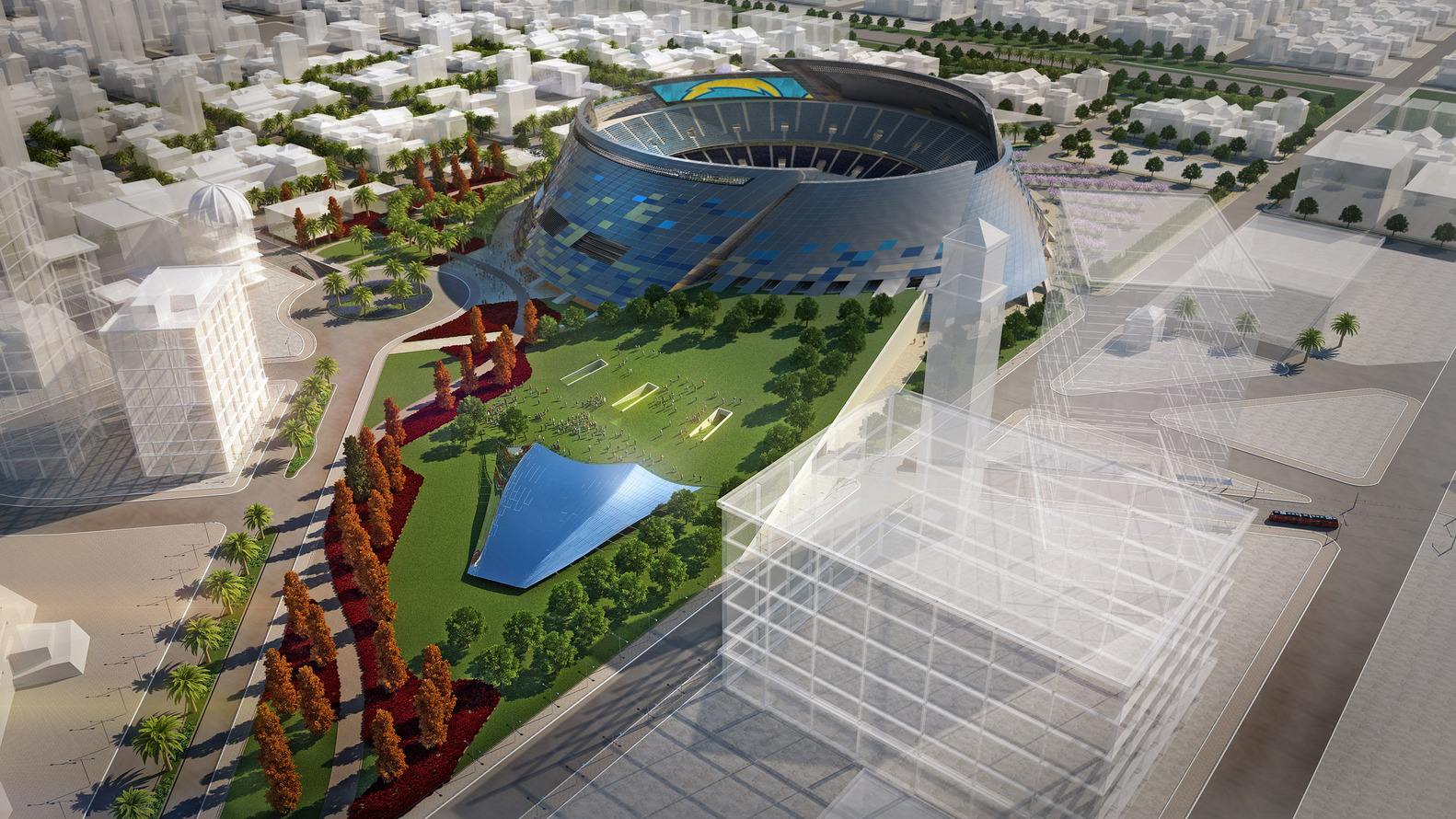 San Diego Stadium Master Plan / De Bartolo + Rimanic Design Studio And  McCullough Landscape Architecture