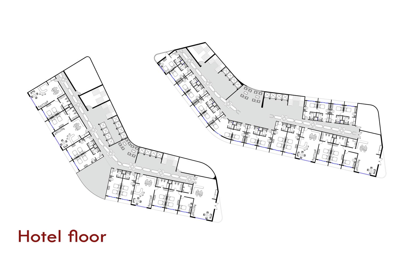 Father And Son Skyscraper / IAMZ Studio,hotel Floor Plan