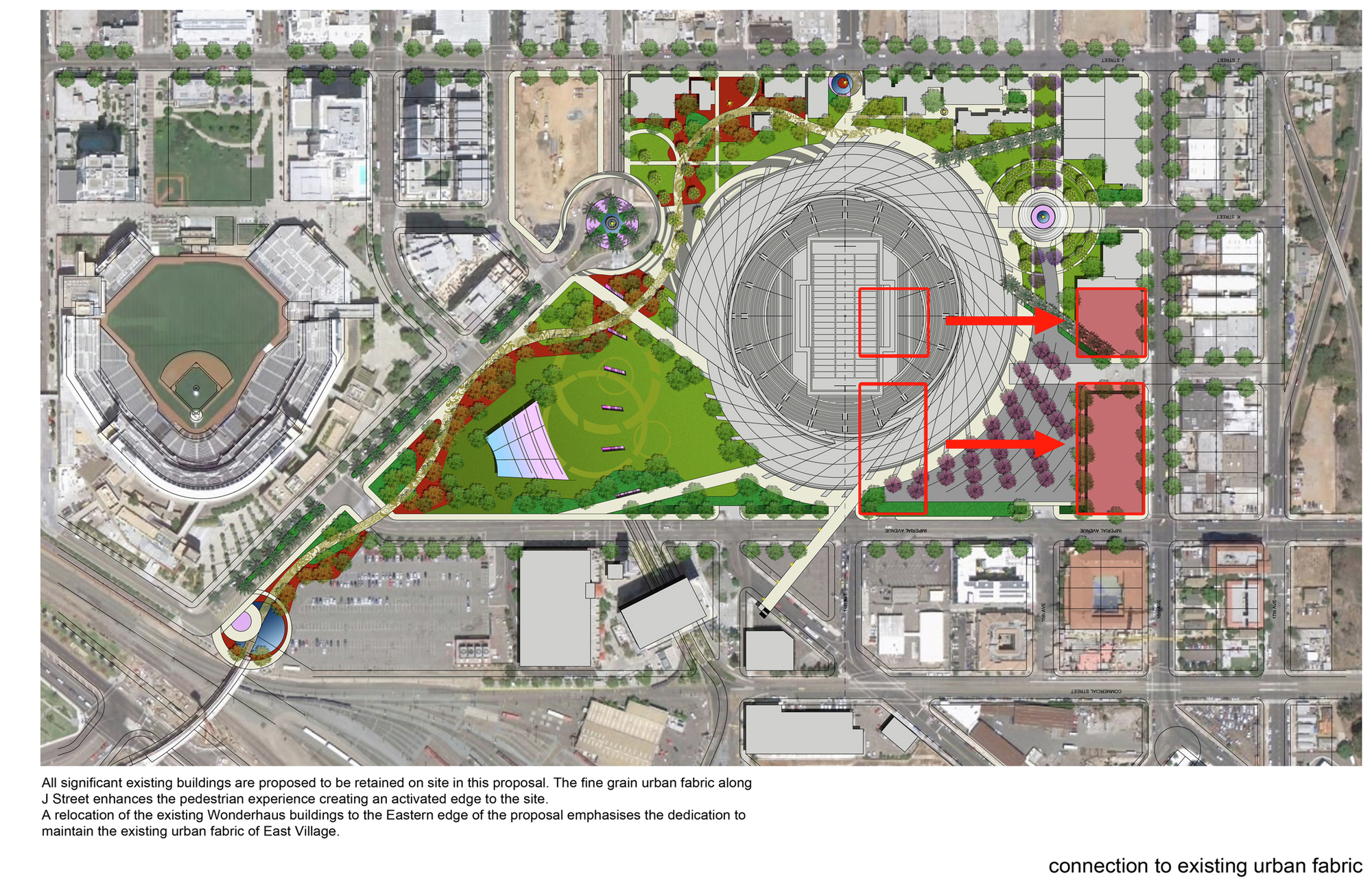 Gallery Of San Diego Stadium Master Plan De Bartolo
