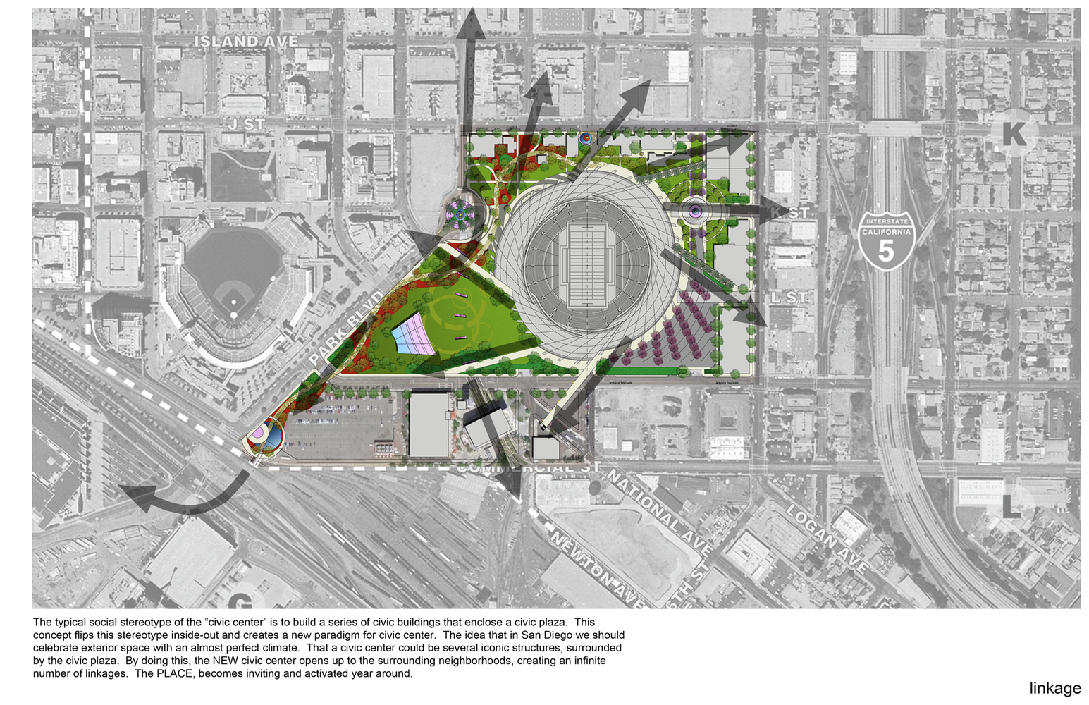 Superior San Diego Stadium Master Plan / De Bartolo + Rimanic Design Studio And  McCullough Landscape Architecture