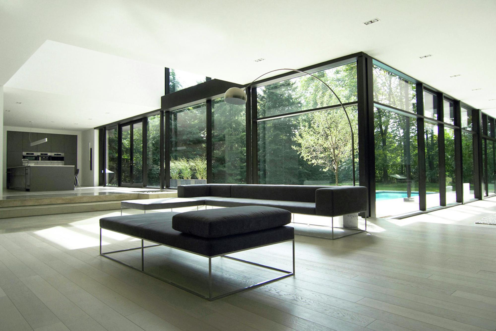 Gallery of oakville residence guido costantino 17 for Casa minimalista interior negro