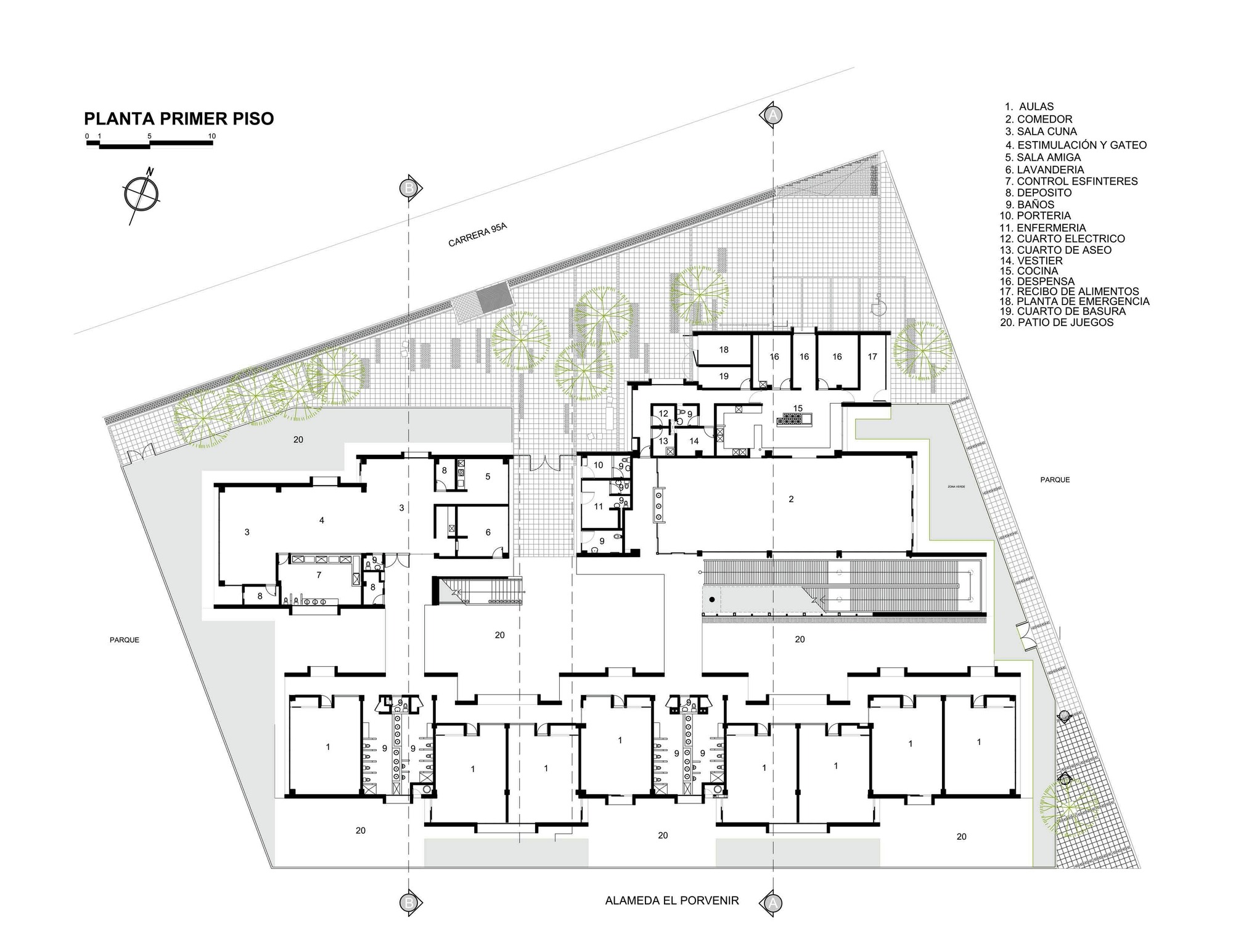 El caracol kindergarten demos arquitectos archdaily for Caracol de jardin