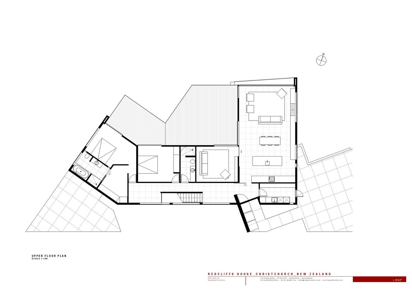 Redcliffs House / MAP Architects,Plan 01
