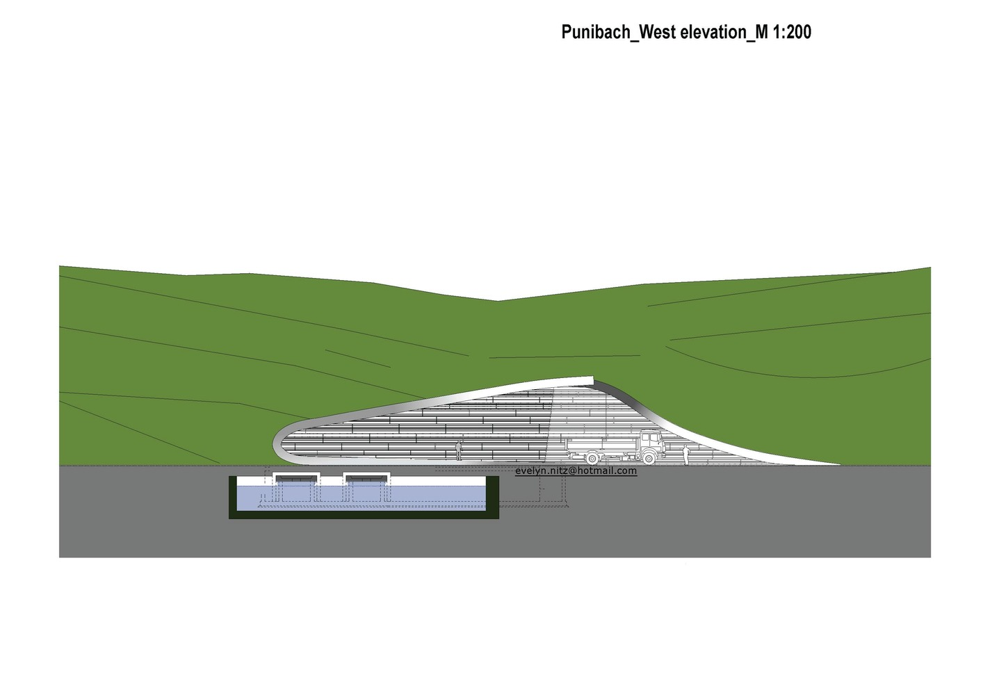 Gallery Of Hydroelectric Power Station Punibach Monovolume Diagram Architecture Designelevation 01