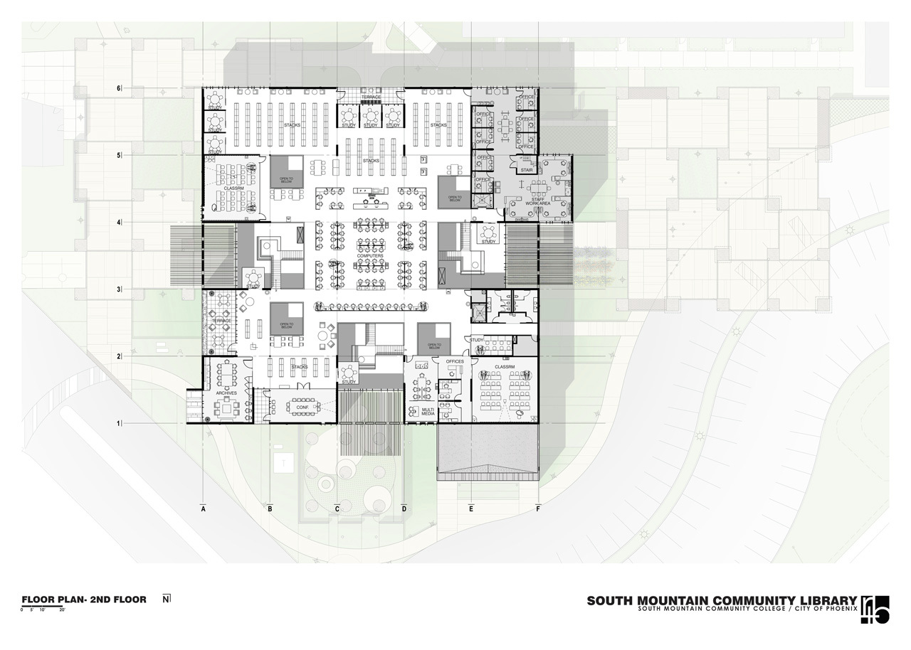 Gallery of south mountain community library rich rd for Mountain architecture floor plans