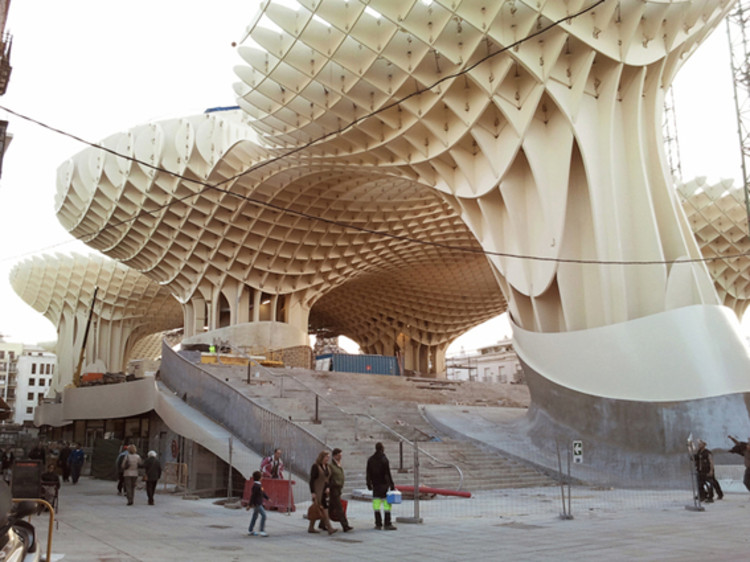 j mayer h architects 39 metropol parasol opening this sunday archdaily. Black Bedroom Furniture Sets. Home Design Ideas