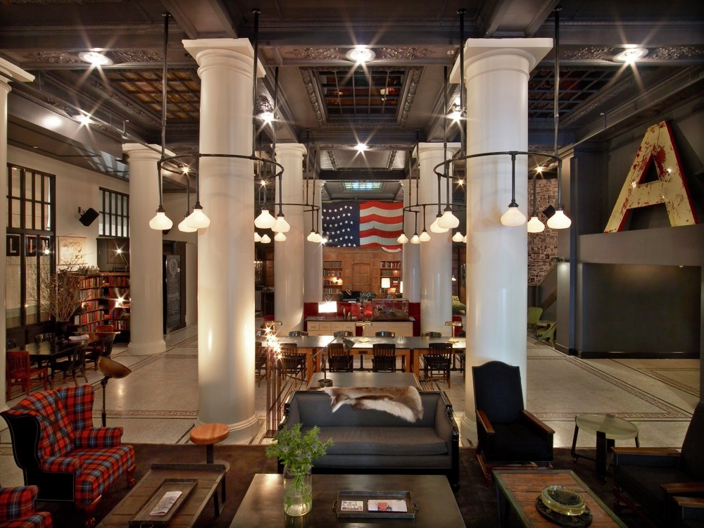 Gallery of the ace hotel new york roman and williams 7 for Ace hotel brooklyn