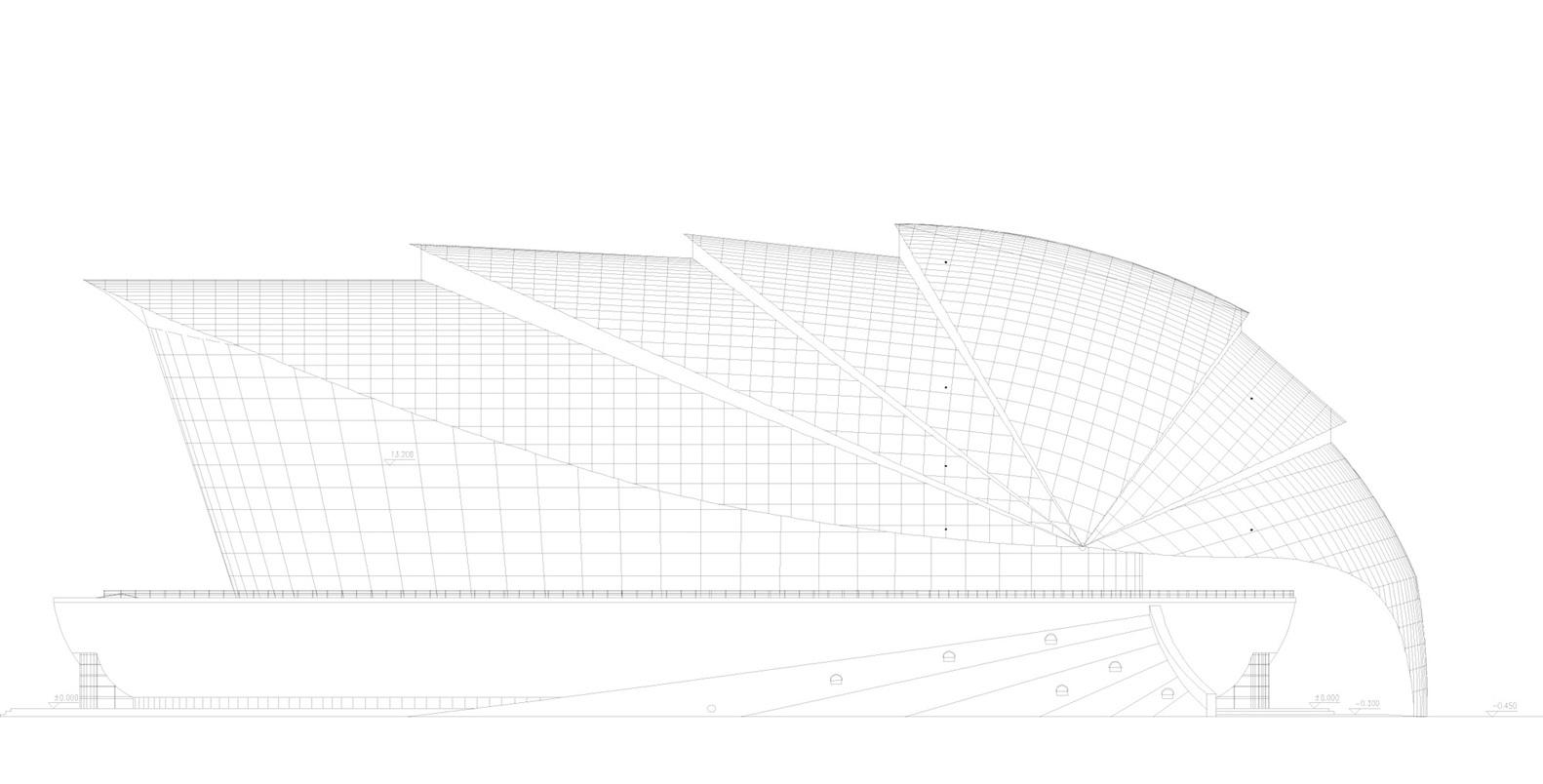 Dalian Shell Museum / The Design Institute Of Civil Engineering U0026  Architecture Of DUT,elevation